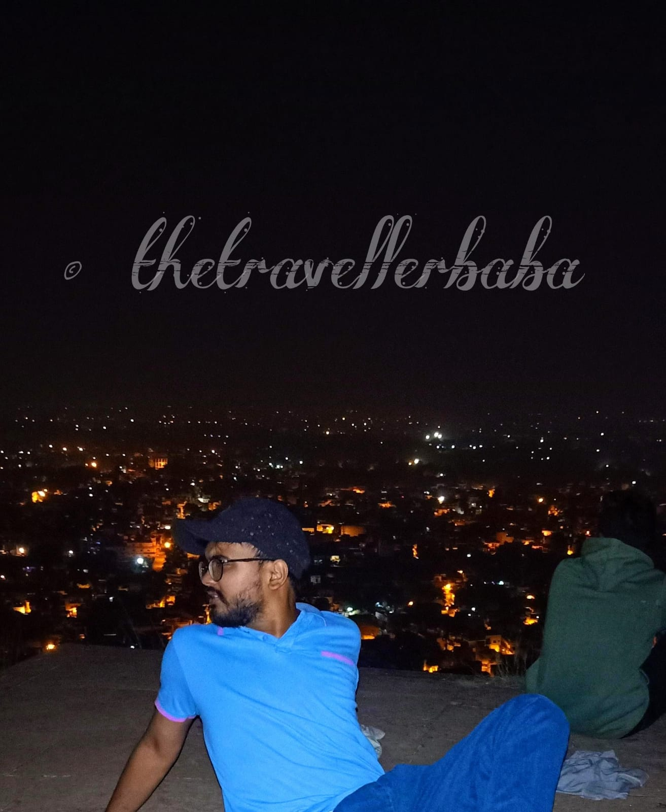 night view from Gwalior fort